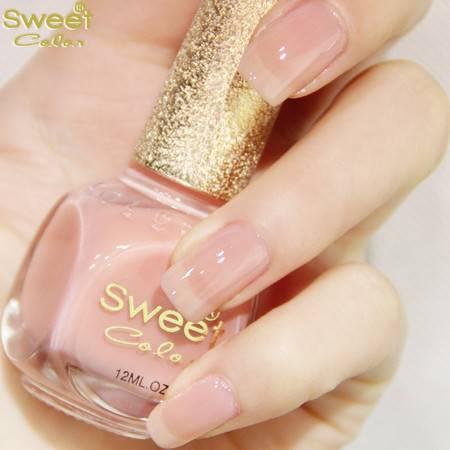 包邮 sweet color环保指甲油裸色系果冻粉色 丽格海棠S338 12ML