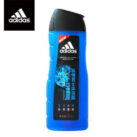 Adidas 阿迪达斯 男士 活力沐浴露 纵情 400ml