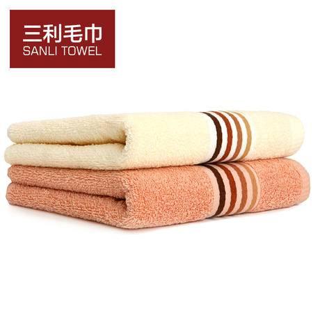 三利 舒适柔和吸水干发毛巾 透气柔软洗脸毛巾 成人洁面情侣面巾 JS805