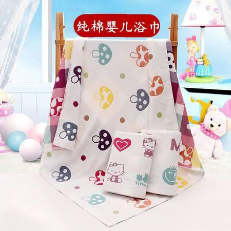 纯棉纱布婴儿浴巾超柔软宝宝新生儿童加厚蘑菇毛巾被盖毯幼儿园批