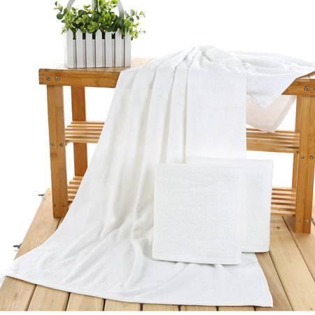 爆款毛巾厂家直销宾馆酒店浴巾400克吸水礼品纯棉白浴巾批发美容