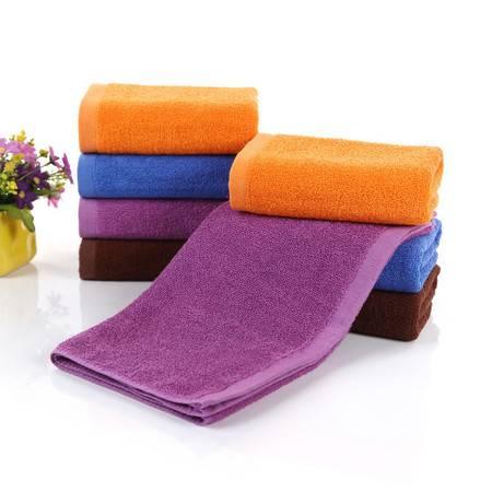 纯棉毛巾咖啡橘黄蓝紫色宾馆酒店面巾劳保美容院足浴毛巾批发