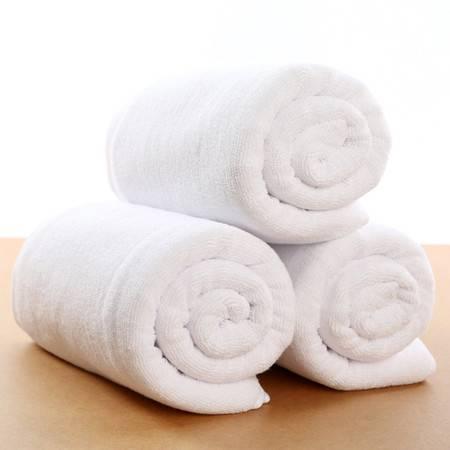 酒店浴巾全棉毛巾定制创意纯棉加大厚宾馆500克白浴巾厂家批发