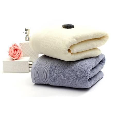 素色运动大毛巾32股加厚150克高档纯棉毛巾批发广告绣字logo