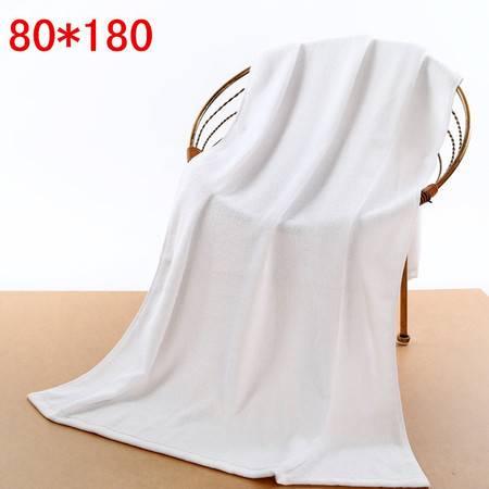 800克纯棉白色180加厚大浴巾 美容 院养生馆 医用 酒店 火疗巾印字绣字