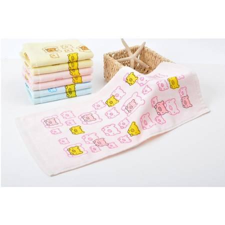 割绒纯棉印花婴幼儿童毛巾 小毛巾 口水巾 幼儿园礼品绣字批发