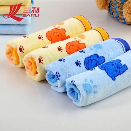 三利毛巾50*26 柔软吸水可爱宝宝儿童毛巾 割绒印花童巾 7022