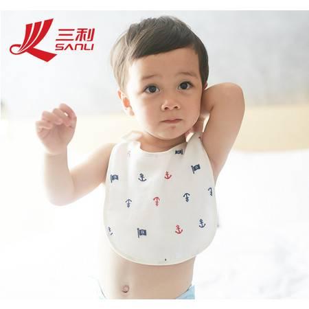 三利夏秋款新品首发 纯棉婴儿围嘴30*21 印花宝宝围兜新生儿宝宝口水巾 货号A610