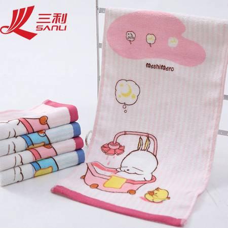 三利毛巾 25*50 婴童百分百纯棉割绒印花童巾 童巾 M7007