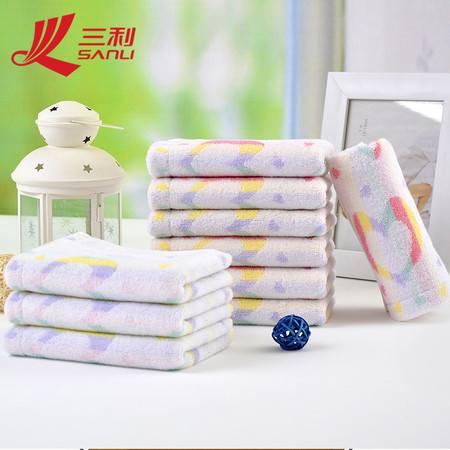 三利全棉提花毛巾 50*25儿童专用洗脸巾面巾 7001 超柔软提心童巾