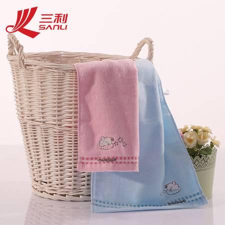 三利毛巾 34*74 纯棉绣花毛巾 售面巾 m9003