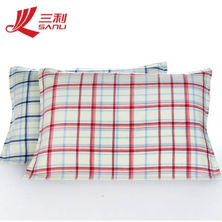 三利 纯棉毛巾 52*76对枕 货号 4120-4两色可选 天空丛林枕巾