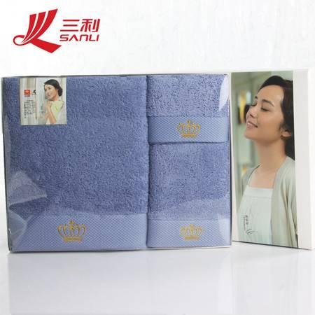 包邮 三利毛巾 货号 S800T纯棉吸水成人浴巾毛巾套装 男女纯色  情侣赠礼 送礼礼盒