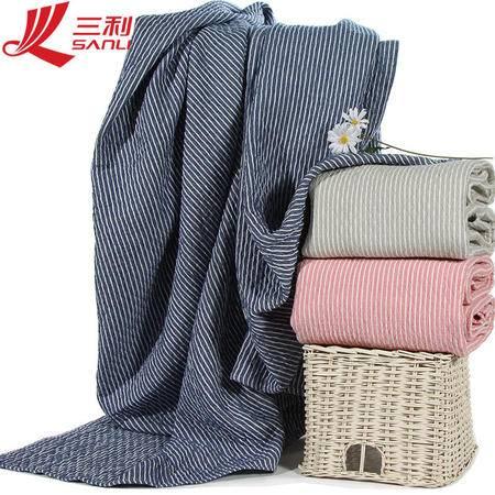 包邮 三利毛巾纯棉毛巾被单人双人加厚150*200毛巾毯  货号 50901-1