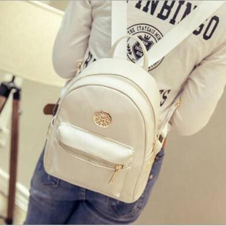 包邮 双肩包女士包包2016新款韩版pu学院风潮时尚旅行背包书包女包