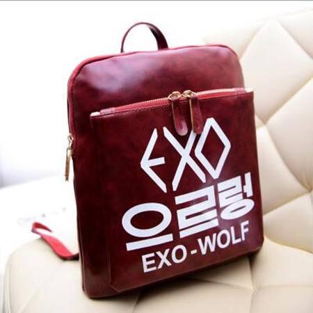 包邮 新款女包包潮女士单肩旅游旅行背包韩版学院风双肩包EXO书包