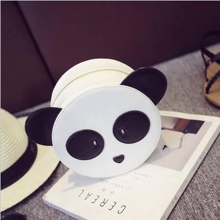 包邮 外贸女包 夏季新款韩版撞色小圆包 熊猫头单肩包 斜跨包