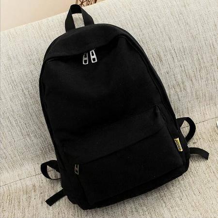 包邮 2016新款纯色书包中学生双肩包韩版潮学院风背包