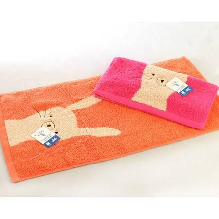 金号T1064WH纯棉毛巾 个性卡通 图案柔软吸水 舒适无捻/割绒
