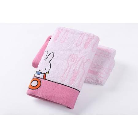 金号毛巾专柜正品 、无捻纯棉米菲兔面巾 柔软亲肤 MF1048