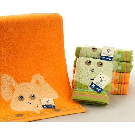 金号纯棉毛巾 T1079H个性卡通 图案柔软吸水 舒适无捻/割绒