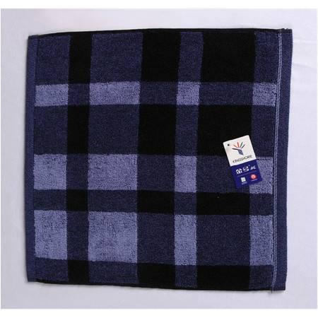 金号毛巾 纯棉提缎时尚格子男士方巾G6361