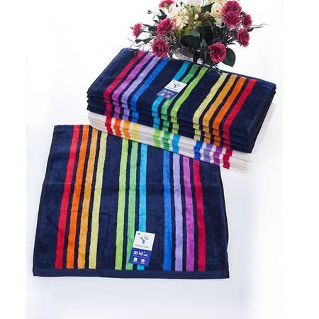 金号毛巾 纯棉割绒彩条情侣款面巾 吸水性强G1560