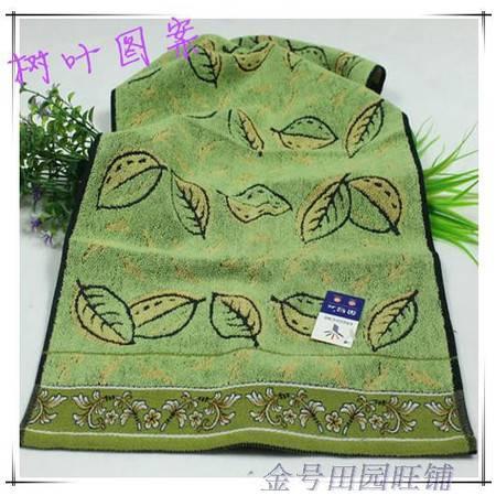 金号毛巾 纯棉提缎面巾 欧式树叶图案 精致厚实G1072