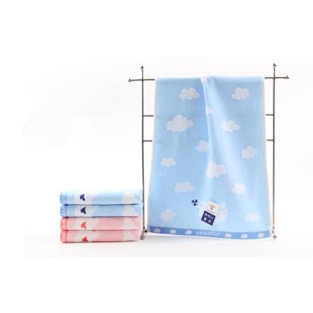 金号毛巾  纯棉和平鸽面巾 加大厚实款 柔软舒适G1289WH