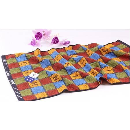 金号毛巾 纯棉英文字母方格面巾 0150