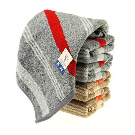 金号纯棉毛巾 提缎面巾 厚实吸水 素色条纹GA1113