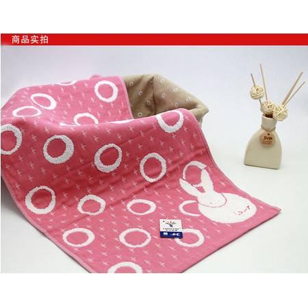 金号毛巾小兔子G1292H 纯棉纱布面巾 柔软舒适透气
