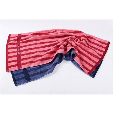 金号正品 纯棉毛巾 提缎割绒面巾 简约条纹 柔软舒适百搭型G1742
