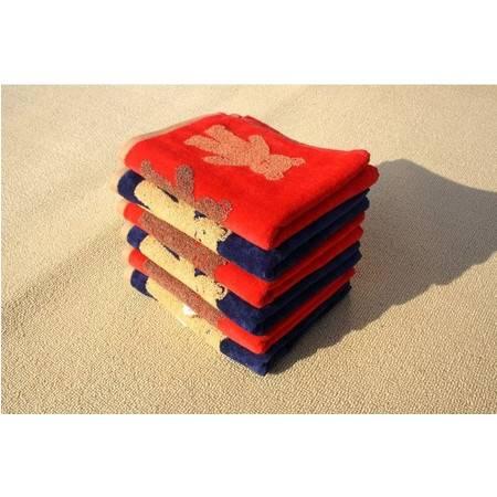 金号毛巾 专柜正品 纯棉割绒可爱熊小毛巾儿童毛巾呵护宝宝G6018
