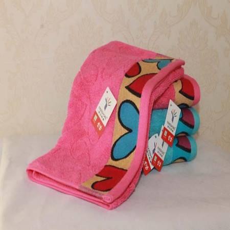 金号专柜正品 纯棉提缎面巾 可爱心型 情侣面巾RA065