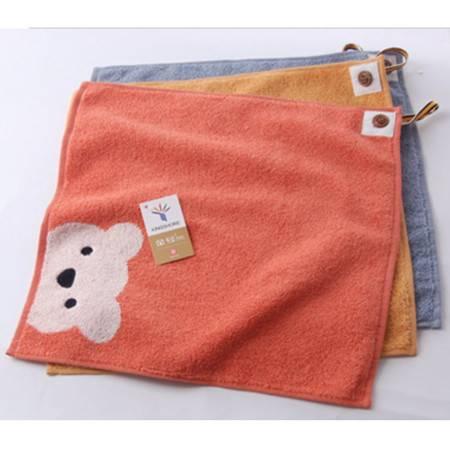 金号面巾 柔软吸水卡通图案小熊纯棉毛巾S6130WH