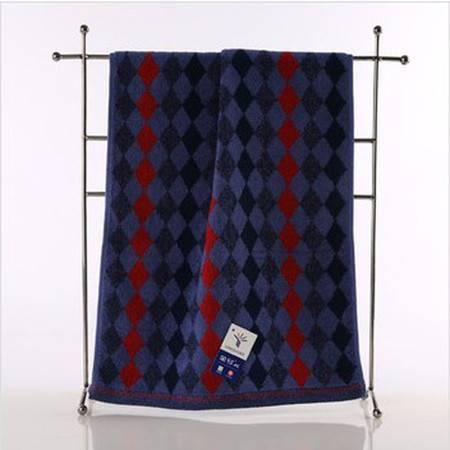 金号品牌正品 纯棉毛巾 提缎面巾 菱形方格款 柔软吸水G1745A