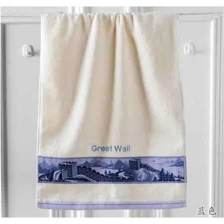 金号正品 高档纯棉 中国风长城面巾 经典厚实 柔软吸水毛巾G1122H