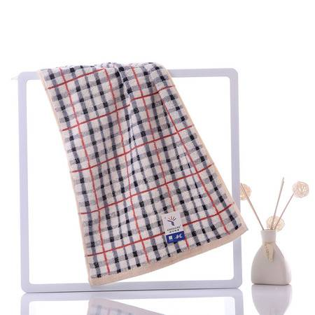 金号 毛巾纯棉吸水提缎方格中巾面巾G1658