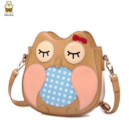 包邮 春夏款韩版潮迷你小包包少女生可爱卡通猫头鹰单肩斜挎包