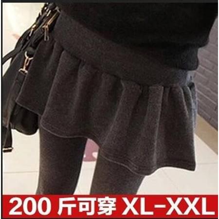 包邮 大码胖MM秋冬款 假两件裤裙包臀裙子打底裤加肥加大女装