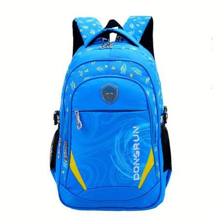 包邮 新款3-6年级小学生减负韩版印花双肩背书包