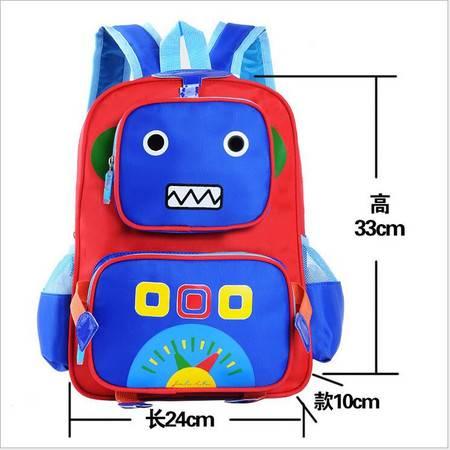包邮 儿童书包幼儿园男女款韩版包包卡通机器人双肩背包印字定制