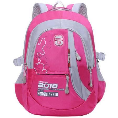 包邮 书包小学生女6-12岁男孩女孩韩版休闲双肩背包帆布旅行包减负超轻