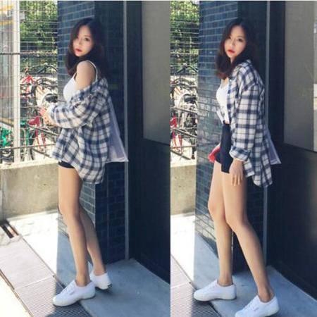包邮 新款韩版女装秋棉麻格子衬衫女中长款修身显瘦长袖防晒衫上衣
