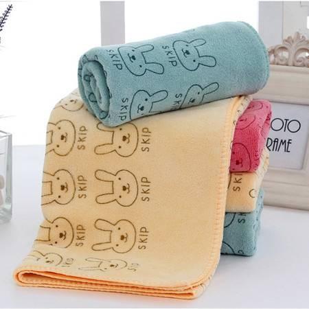 包邮【4条装】超细纤维涤锦毛巾 儿童卡通印花小毛巾 图案随机