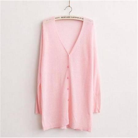 包邮披肩超薄款女开衫中长款糖果色外搭百搭夏季防晒衣外套长袖针织衫