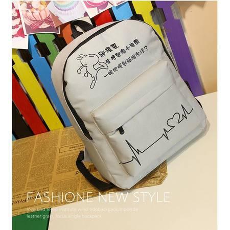 包邮 2016春新款韩版帆布学生书包潮流女双肩包学院风旅行背包