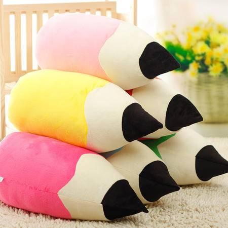创意彩色铅笔公仔抱枕靠枕毛绒玩具午休枕儿童玩偶学生活动小礼物
