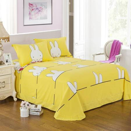 包邮 家纺全棉加厚磨毛床单双人单件秋冬季纯棉枕套保暖床上用品